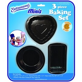 Entenmann's Minis 3-piece Non-stick Bakeware Set for Kids