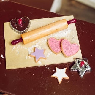 Cookie Baking Gift Set Complete with Cookie Cutters, Rolling Pin, Breadboard & Cookies. Fits 18 Inch Doll Accessories & Food
