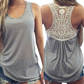 2016 Women Summer Lace Tank Top Sleeveless Blouse