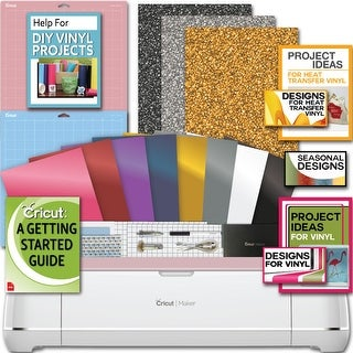 Cricut Maker Machine Bundle 4 Smooth Heattransfer Vinyl Design/Projects Guide