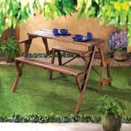 Convertible Garden Table And Bench