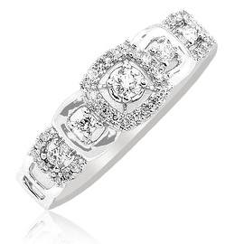 1/5cttw Diamond Annniversary Fashion Ring 10K Yellow Gold 6mm Wide (I/j Color 0.2cttw)