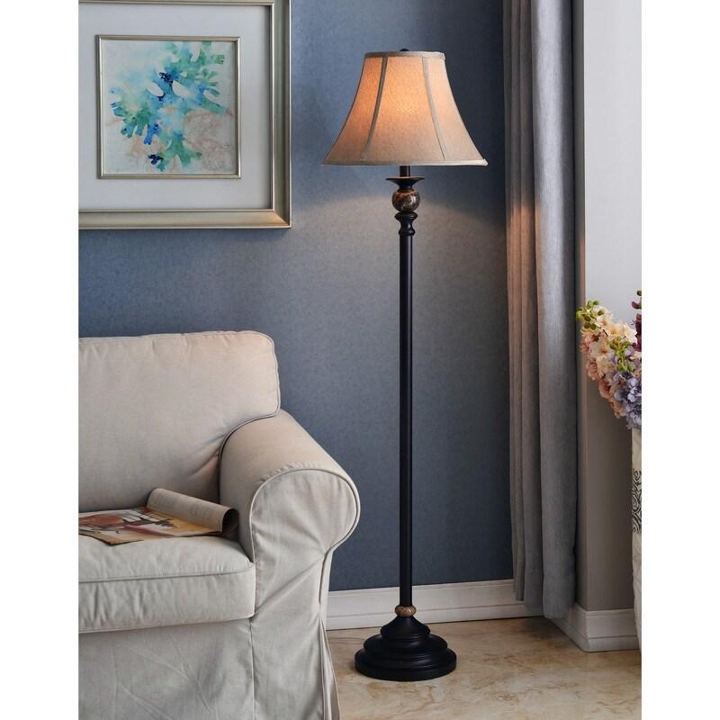 Avery 62-inch 3-Way Oil Rubbed Bronze Floor Lamp