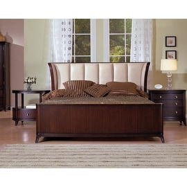 Mid Town Eastern King Bed with Ivory Leather