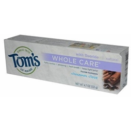 Tom's of Maine Whole Care with Fluoride Natural Toothpaste, Cinnamon-Clove 4.7 oz