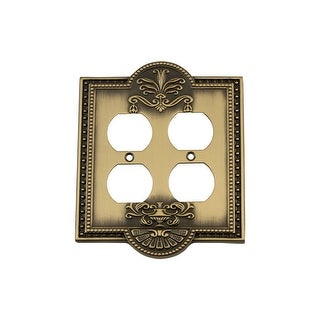 Nostalgic Warehouse MEA_SWPLT_D2 Meadows Double Duplex Wall Plate