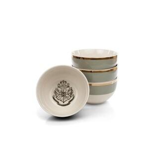 Harry Potter Hogwarts Emblem White & Grey Ceramic Bowl Collection