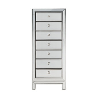"""18"""" Wide Lingerie Chest 7 Drawers in antique silver or gold paint"""