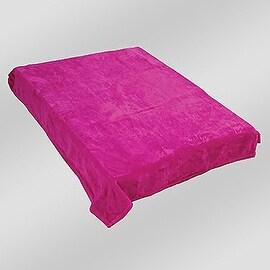 King Size Coral Fleece Solid Fusia Blanket Bedding Throw Fleece Super Soft