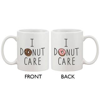 Cute Breakfast Coffee Mug - I Donut Care Funny Ceramic 11oz Coffee Mug Cup