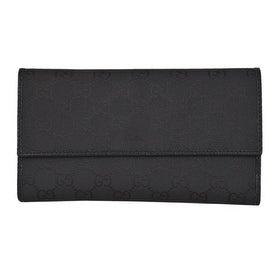 New Gucci 257303 Black Nylon GG Guccissima Wallet W/Coin Pocket