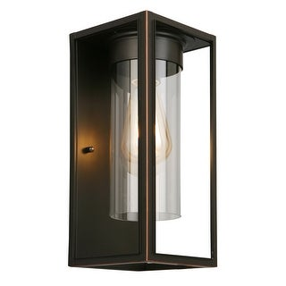 Eglo Walker Hill Outdoor Wall Light with Oil Rubbed Bronze Finish and Clear Glass