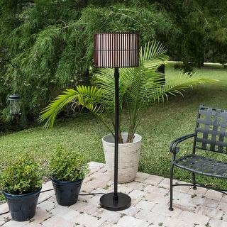 "Dakota Outdoor 1-light Bronze Slat Floor Lamp - 15"" Dia. x 59"" H"