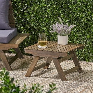 Sedona Outdoor Wooden Side Table by Christopher Knight Home
