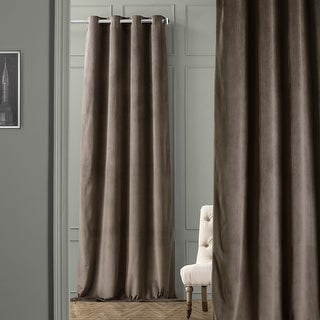 "Exclusive Fabrics Signature Velvet Grommet 84"" Blackout Curtain Panel"