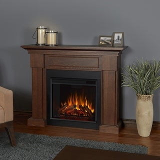 Hillcrest Electric Fireplace Chestnut Oak - 48.4L x 13.9W x 38.6H