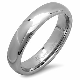 Oxford Ivy 5mm Mens Plain Comfort Fit Tungsten Wedding Band ( Available Ring Sizes 7-12)