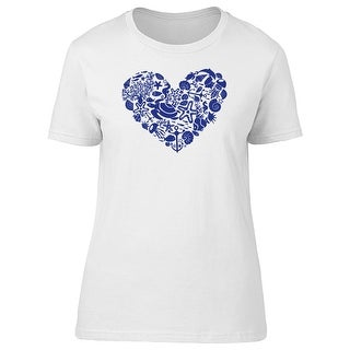 Heart Made of Sea Animals Tee Women's -Image by Shutterstock