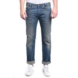 Diesel Iakop Regular Slim-Tapered Light Blue Denim Jeans