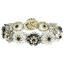 Glass Garden DIY Beading Kit, Blooming Crystals Bracelet, 1 Kit, Top Hat