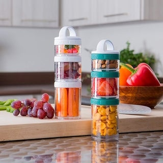 Whiskware Stackable Mini Snack Pack Containers - One Size