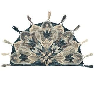 "Alexander Home Hand-Hooked Sophie 100% Wool Floral Tassel Hearth Rug - 2'3"" x 3'9"" Hearth"