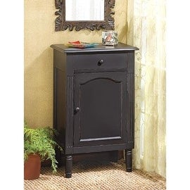 Antique Black Wood Cabinet
