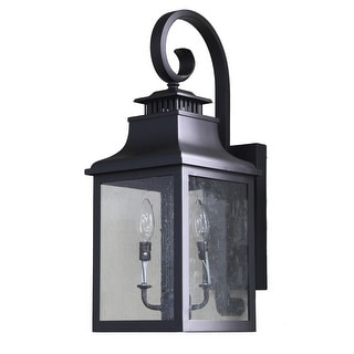 Morgan 2 Light Exterior Lighting in Black Finish
