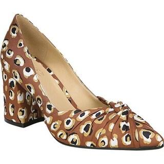 Naturalizer Women's Helena Pump Brown Multi Spotted Leopard Print Fabric