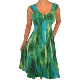 Funfash Plus Size Dress Emerald Green Empire Waist Women's Dress