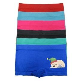 Girl's 6 Pack Seamless Baby Print Underwear Boyshorts Panties