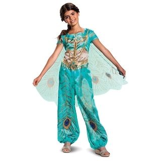 Girls Jasmine Teal Classic Disney Princess Costume