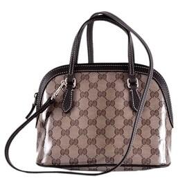 NEW Gucci 341504 GG Guccissima Crystal Canvas Convertible Small Dome Purse Bag