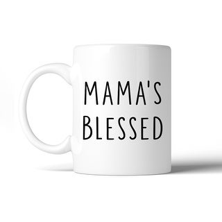 Mama's Blessed Coffee Mug Simple Design Cute Gift Ideas For Moms