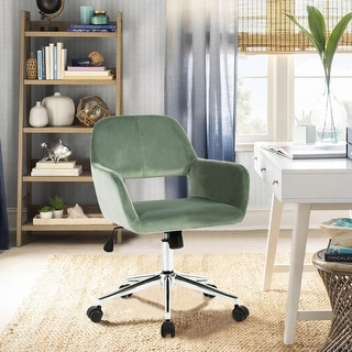 Porch & Den Sabrina Velvet Home Office Swivel Chairs