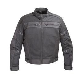 Mens Black Mesh Motorcycle Jacket 5peice CE Armor MBJ064