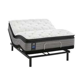 Sealy Response Performance 14-inch Plush Pillow Top Mattress and Ease Adjustable Bed Set
