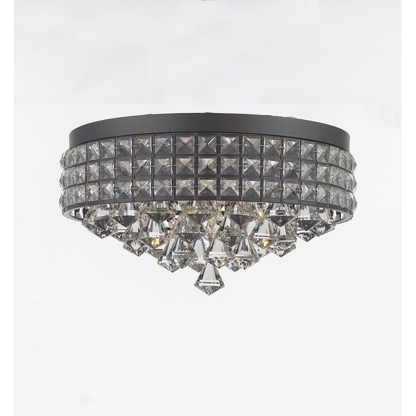 Flush Mount French Empire Crystal Chandelier Crystal Iron Metal Shade Free Shipping Today