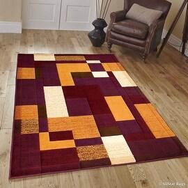 "AllStar Rugs Violet Modern Contemporary Casual Area Rug (7' 10"" x 10' 2"")"