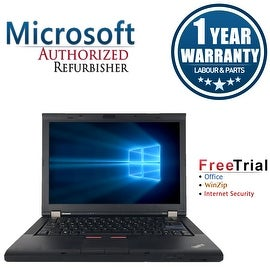 "Refurbished Lenovo ThinkPad T410 14.1"" Laptop Intel Core I5 520M 2.4G 4G DDR3 160G DVDRW Win 10 Professional 64 1 Year Warranty"