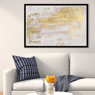 Oliver Gal 'Pure Love' Abstract Framed Wall Art Prints Paint - Gold, White
