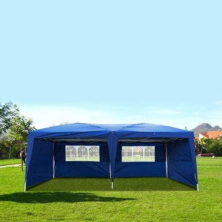 10'X20' POP UP Foldable Wedding Party Gazebo Canopy Tent W/4 Walls