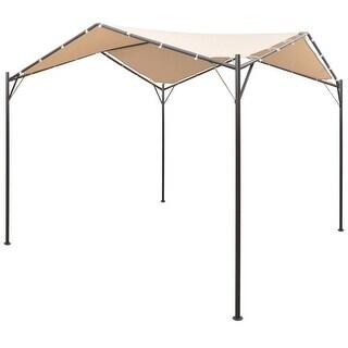 "vidaXL Garden Gazebo 13' 1""x13' 1"" Beige Patio Outdoor Pavilion Tent Canopy"