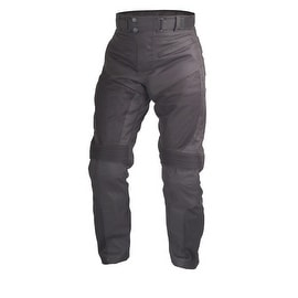 Motorcycle Sport Mesh Riding OverPants Black with Removable CE Armor PT3