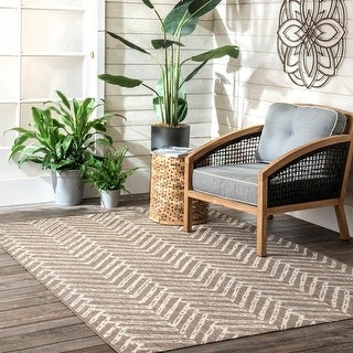 Pegunun Herringbone Outdoor Area Rug by Havenside Home