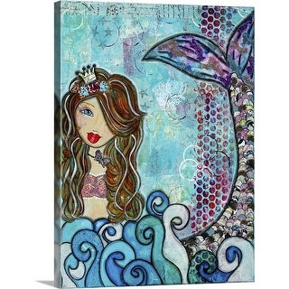 """Mermaid"" Canvas Wall Art"
