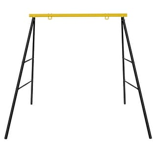 NewAge Extra Large Heavy Duty All-Steel All Weather A-Frame Swing Frame Metal Swing Stand