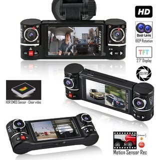 """Indigi® F600 Car DVR DashCam w/ Dual Rotating Cameras (Front+Rear) Driving Recorder with 2.7"""" LCD w/ IR Nightvision"""