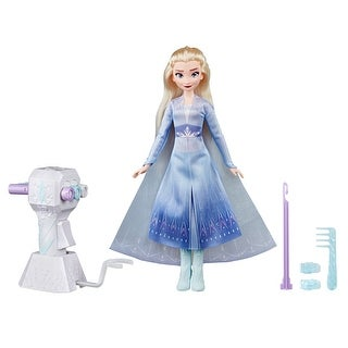 Disney Frozen Sister Styles Elsa Fashion Doll with Extra-Long Blonde Hair, Braiding Tool and Hair Clips - Toy For Kids