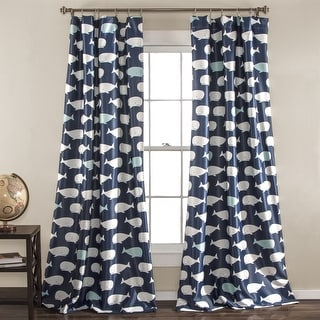 """Taylor & Olive Lums Whale Curtain Panel - 52"""" x 84"""""""